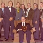 L to R:  (1970 CIB) Ron Larsen, Ron Turner, Robert Myles, Don MacDonald, Clayt Jones, Bob Cook, Don Ross, George Merwin, Larry McElrea.  Seated is Morris Catt